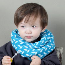 new knitting warm wave pink blue o ring baby collars bird cartoon dragon boys girls cotton scarf winter neckerchief accesories(China)