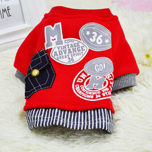 2016 New Cotton Dog Sweater Shirt Pet Clothes Fashion Baseball Uniform Jersey Jacket Clothing for Small Dogs Apparel 2 Colors(China)