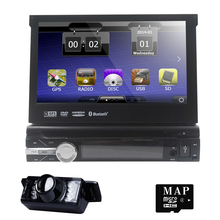 "7"" HD Touch Screen Car DVD Player Radio GPS Navigator 1 DIN Detachable Car Video Player"