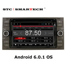 SMARTECH 2 din Android 6.0.1 system Car multimedia player GPS navigation head unit for Ford/Mondeo/Focus/Transit/C-MAX