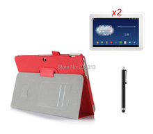 "Cowhide Grain Hand Strap Credit Card Slot Stand Leather Case For Asus transformer pad tf303 tf303cl 10.1""+2 *clear films +stylus"