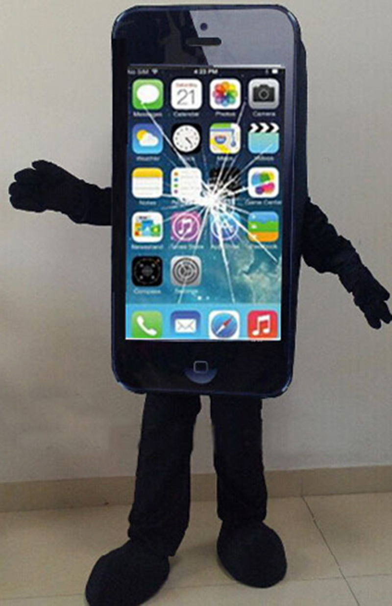 2014Hot-sale-Mascot-Costume-Cell-Phone-Apple-iPhone-5C-Adult-Size (2)
