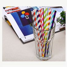 Eco Friendly 25pcs Striped Paper Straws Drinking Party Birthday Vintage for Party Birthday Wedding