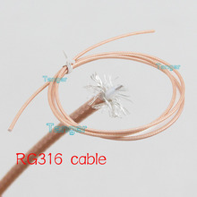 "3Feet RG316 RG-316 RF Coaxial Pigtail Jumper Extension cable  100cm 40inch 40"" 1M Low Loss for Adding Any Length Customization"