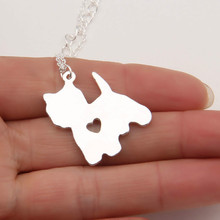 1pcs Yorkie Necklace Yorkshire Terrier Pendant Puppy Heart Dog Pet Necklaces & Pendants Women Animal Christmas Gift Lead Free
