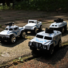 1:64 alloy car model children's toys metal material police car series 4pcs jeep children like gifts worth collecting