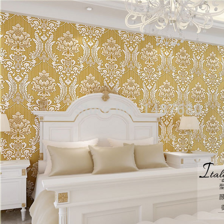 beibehang metallic wallpaper modern background wall wallpaper roll damask classic wall paper for living room papel de parede 3D<br>
