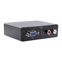 ZB Hot PC Laptop Computer Analog VGA to HDMI HDTV Converter+R/L Stereo Audio with Power Adpater with Audio output
