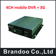 PAL/ NTSC 4CH 3G Car BUS Mobile HD DVR Realtime recording(China)