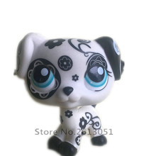 5cm Original 1pc cute toys Lovely Pet shop animal Lovely Patterned black and white dog figure littlest doll Little gift girl toy(China)