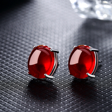 Chalcedony earrings for women Retro Copper plated Red Green piercing ear Fashion charms Jewelry for friend lover