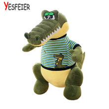 58/68cm Wholesale Cartoon Dinosaur Plush Toys Green Crocodile Cloth Doll Stuffed plush birthday gift