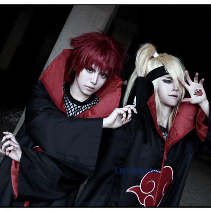 Naruto Cosplay Costume - Naruto Akatsuki Cloak Cosplay Clothes Halloween Party Cos Coat Wholesale (10)__