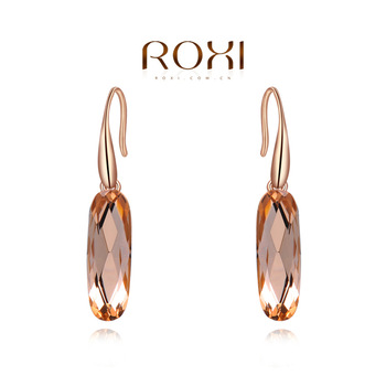 ROXI Brand Earrings For Women Fashion Jewelry Rose Gold Color Jewelry Zirconia Crystal Earrings Delicate Engagement Wedding Gift