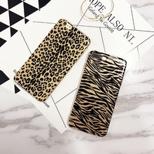 Shining Bling Glitter for iPhone X 8 7 Plus Cool Leopard Zebra Pattern Phone Cases for iPhone 6 6s Plus Soft TPU Back Case Cover(China)