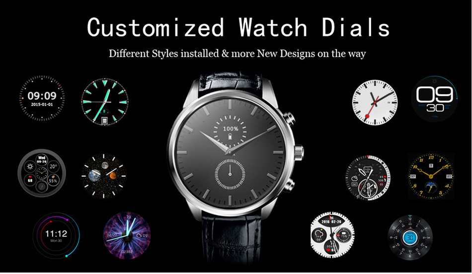FineFunX5 Plus 3G Man Smartwatch Phone GPS WiFi Bluetooth Fashion Business Smart Watch for IOS Android Life Waterproof