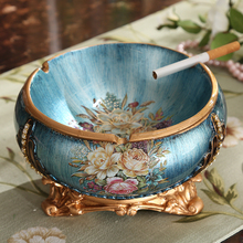 luxury utility office decoration Home Furnishing ASHTRAY CIGARETTE dish living room coffee table retro decorative gift(China)