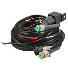 2016 New 12V Switch & Relay Twin Wiring Harness Kit For LED Spotlights Work Fog Light Bar for 3m