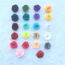 DIY Flower, Wool Felt Flower, DIY supplies Hair Accessories 10pcs/lot