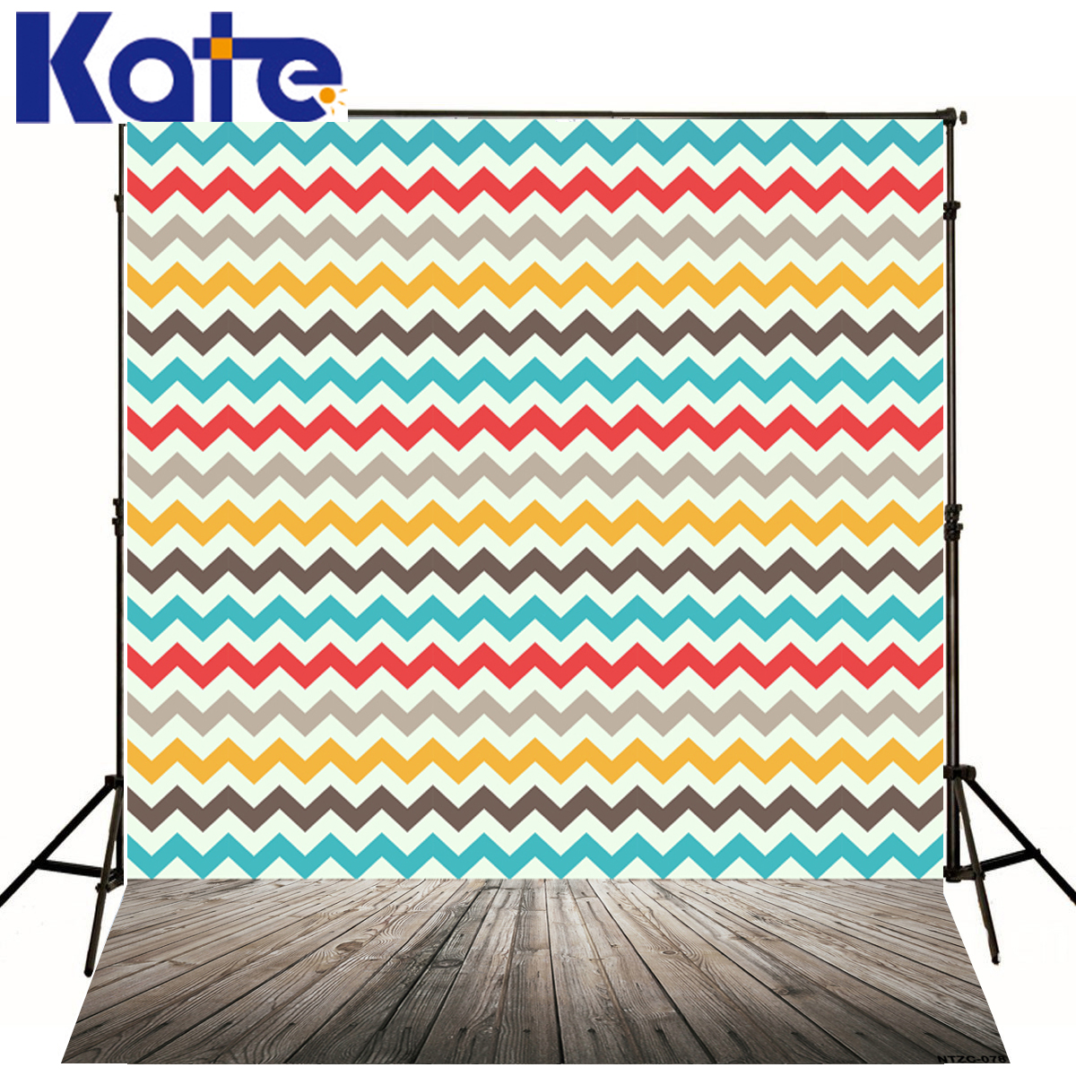Kate Colored Wavy Stripes Backdrops Photography Wood Floor Digital Print Photographic Background For Photo Studio J01681<br>