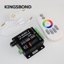Music2 Controller Led RGB Music Controller RF Remote Intelligent Sonic Sensitivity Led Backlight Remote Free Shipping(China)