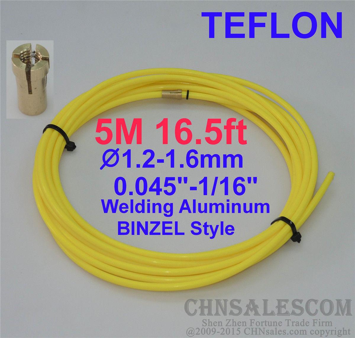 "PTFE Liner 15-ft  MIG Welding Guns Wire Size 0.045/""-1//16/"" LI TW MI 4.6M yellow"
