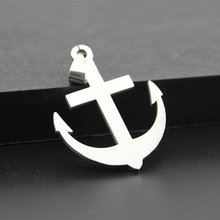 Stainless Steel Anchor Pendants Necklaces Women Men Animals Statement Charm Choker Silver Ball Chain Jewelry