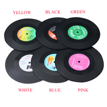 6 Pcs/set Home Table Cup Mat Creative Decor Placemat Tableware Spinning Retro Vinyl CD Record Drinks Coasters