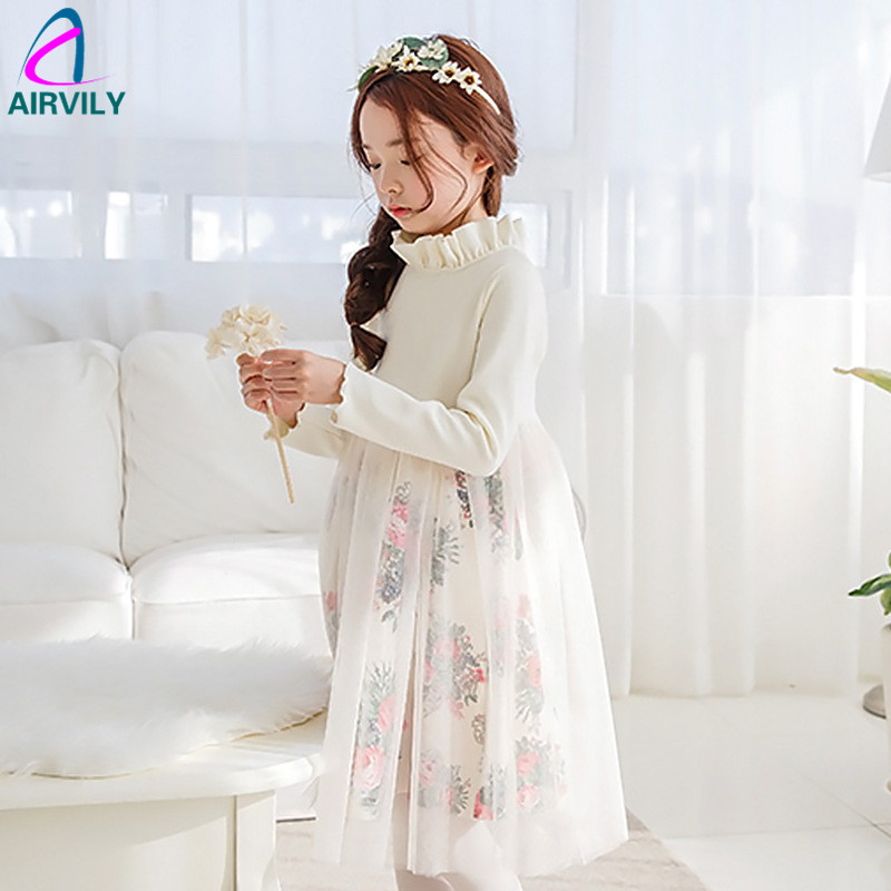 New 2017 Spring Girls Dress Fashion Children Kids Lace Dress Long Sleeve Floral Baby Toddler Cotton Dress,3-15Y Girl Party Dress<br><br>Aliexpress