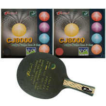 Palio TCT Table Tennis Blade With 2x CJ8000 BIOTECH Rubber With Sponge H40-42 for a Ping Pong Racket Long Shakehand FL(China)