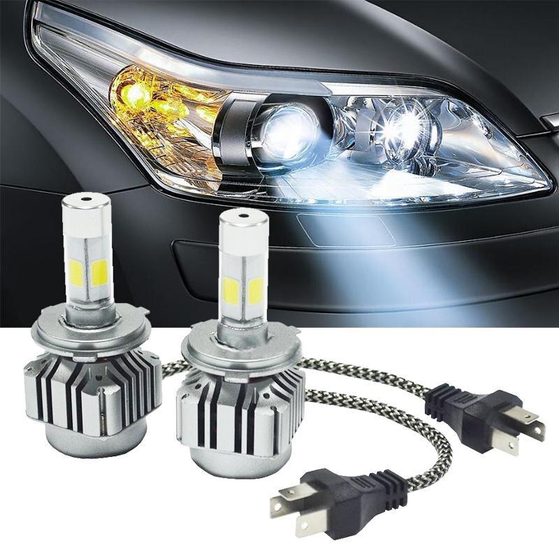 2016 Hot  2Pcs 120W 9004/H13/H4 6000K Car Vehicle White COB LED Headlight Hi/Lo Beams Kit<br><br>Aliexpress