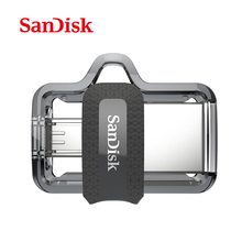 Genuine SanDisk Ultra Dual OTG usb flash drive SDD2 130M/S 16gb 32gb 64gb USB 3.0 pen Drive for all Android phone/table PC(China)