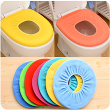 1pc Random Color Soft Toilet Seat Cover Warmer for Bathroom accessories Pedestal Pan Cushion Pads Washable Toilet Seat Covers(China)