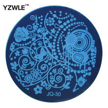 YZWLE 1 Pcs Stainless Steel Plate Image Stamp Stamping Plates DIY Manicure Template Nail Polish Tools (JQ-30)