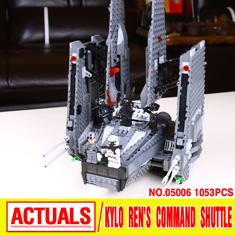 Lepin 05006 1053pcs Star Wars Kylo Ren Command Shuttle anime action figures Building Blocks Toys for children Compatible 75104<br>