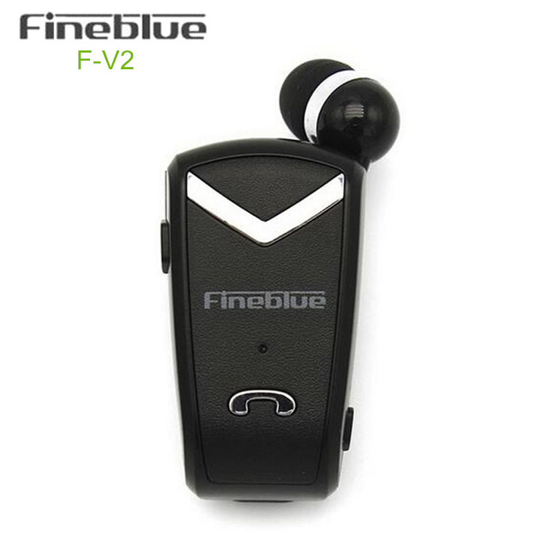Bluetooth Handsfree Stereo Business Earphone Headset Fineblue F-V2 Wireless Retractable Earbus with Clip for Sports / Driver<br><br>Aliexpress