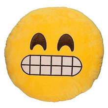 19 Choose Emoji Pillow Cushion Decoration Pillows Smiley Face Pillow Emoticons Cushions Smile Emoji Pad Funny Home Supplies G(China)