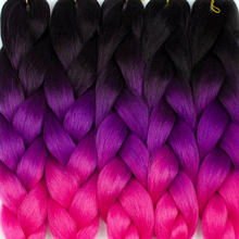 ELEGANT MUSES 24 inch 100g/Pack Ombre Kanekalon Braiding Hair Extensions Synthetic Jumbo Braids Crohet Hair