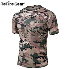 Summer Military Camouflage T-shirt Men Tactical Army Combat T Shirt Quick Dry Short Sleeve Camo Clothing Casual O Neck Tshirt
