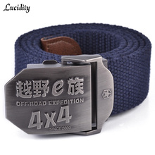 Lucidity Belt Military Men Casual Thickened Automatic buckle Belts Man Canvas Practical Male Famous Brand Belt(China)