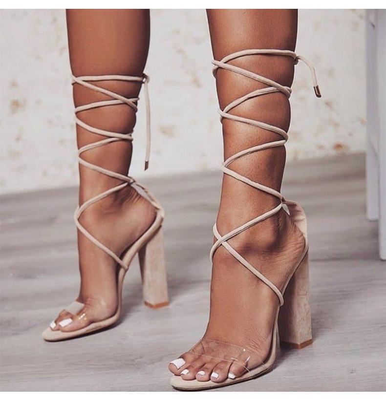 Women Pumps 2018 Summer High Heels Sandals PVC Transparent Women Heels Wedding Shoes Women Casual Waterproof Sandalia Feminina 6