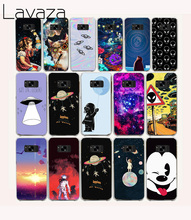 Lavaza 59O astronaut Space Aliens Hard coque Case for Samsung Galaxy S8 Plus S6 edge Plus Note 2 3 4 5(China)