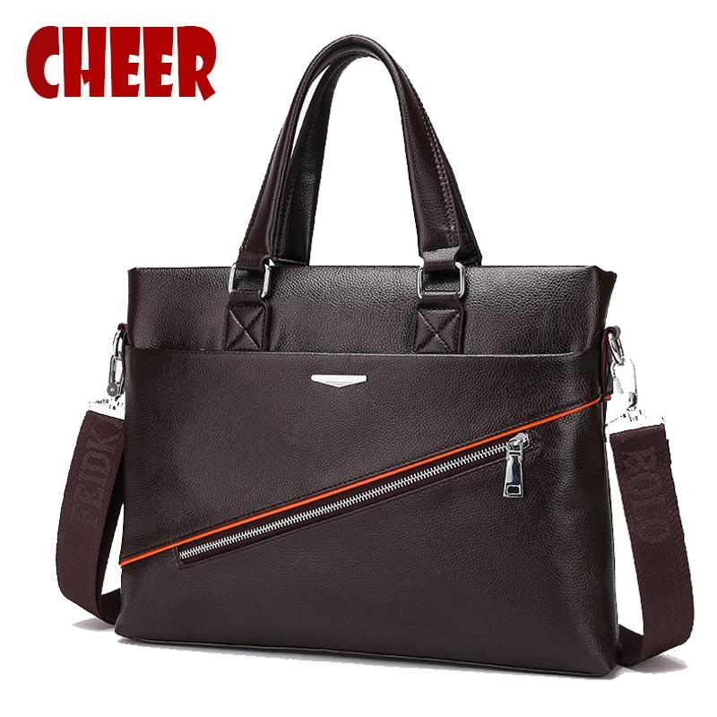 2017 new Fashion Genuine Leather men bag business handbag Male shoulder messenger bag Multi-style laptop briefcase handbags bags<br>
