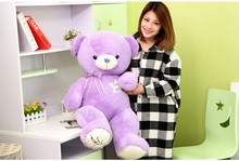 huge 100cm lavender teddy bear plush toy bear doll throw pillow gift w4106(China)