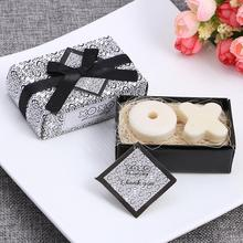 5 Sets Hot Style Handmade Wedding Favor Soap Gifts Xo For Guests Souvenirs Bride Shower Scented 3.5cm * 1cm Luminous Solid(China)