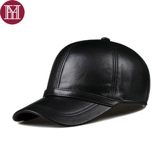 2017 Man's sheepskin leather male golf hat leather casual baseball cap  casual genuine leather headgear adjustable lose sale