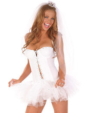 Free Shipping Hot Sale Women New Year Costume Beautiful Fashion Bride Costume 3F1068 sexy bride costumes