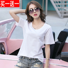 The new spring short sleeved t-shirt t-shirt Dress Size loose cotton shirt 39.9 buy one get one