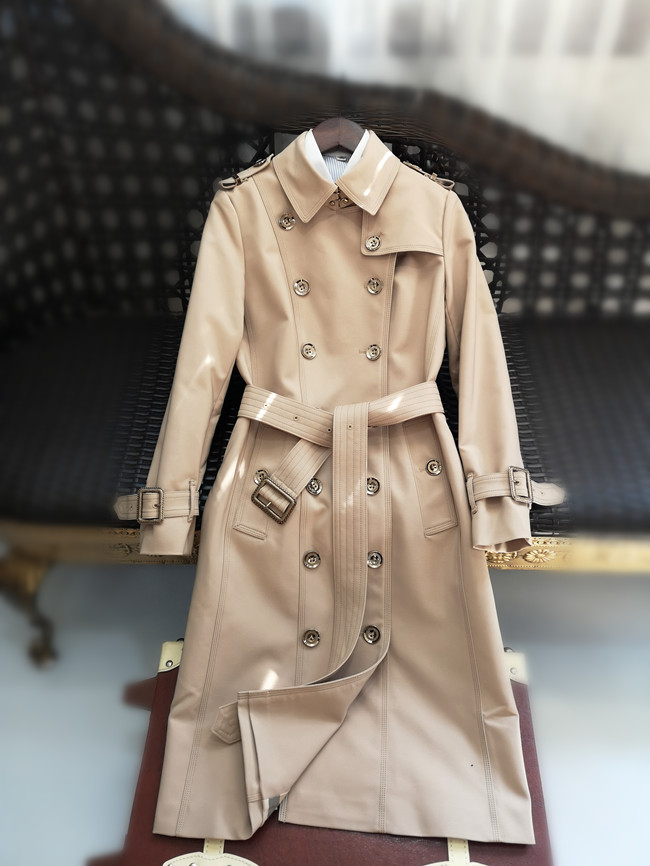 Women Trench Coat 2019 Spring Women Medium Length Double Breasted Trench Epaulet British Outerwear Wrinkle Resistance New