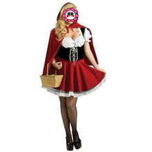 Abbille New Arrival Sexy Halloween Costume Adult Women Fashion Costume Ladies Little Red Riding Hood Costumes Party Cosplay 2017(China)
